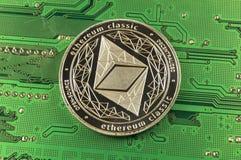 Ethereum klasyk jest nowożytnym sposobem wymiana i ten crypto waluta zdjęcia royalty free