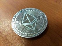 Ethereum klasyk jest nowożytnym sposobem wymiana i ten crypto waluta jest dogodni sposoby zapłata w pieniężnym ma sieci i zdjęcia stock
