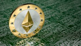 Ethereum-Münze Lizenzfreie Stockfotos