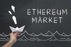 Ethereum marknadsbegrepp arkivfoto