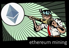 Ethereum miner Royalty Free Stock Photo