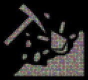Ethereum Mining Hammer Halftone Mosaic of Circles royalty free illustration