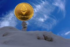 Ethereum is a modern way of exchange and this crypto currency is a convenient means of payment in the financial and web markets . stock image
