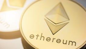 Ethereum monety obrazy stock