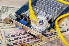 Ethereum monety renderingu silnika cryptocurrency Obrazy Stock