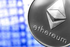 Ethereum mynt på diagram arkivfoton