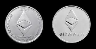 Ethereum mynt tillbaka och framdel Royaltyfria Bilder