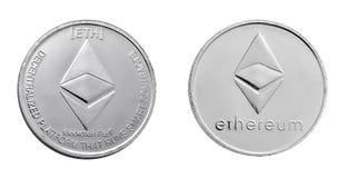 Ethereum mynt tillbaka och framdel Royaltyfri Foto