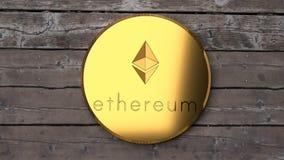 Ethereum si chiude su, moneta digitale, valuta cyber, alternativa del bitcoin royalty illustrazione gratis