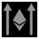 Ethereum tramé blanc Crystal Send Arrows Icon illustration de vecteur