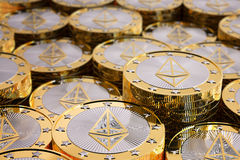 Ethereum - Virtual Money. Cryptocurrency - 3D Rendering Stock Photography