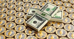 Ethereum - Virtual Money Stock Photos