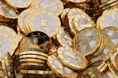 Ethereum - Virtueel Geld Royalty-vrije Stock Foto's