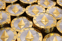 Ethereum - virtuelles Geld stockfotos