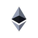 Ethereum waluty crypto moneta Zdjęcia Royalty Free
