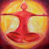 Etheric Meditation Painting Royalty Free Stock Photography
