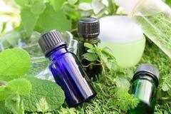 Etherische oliën en natuurlijke schoonheidsmiddelen stock afbeeldingen