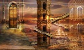 Etherische torens Royalty-vrije Stock Afbeelding