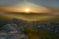 Etherische Zonsondergang Royalty-vrije Stock Afbeeldingen