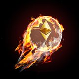 Etherium on fire Stock Photos