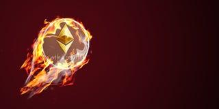 Etherium no fogo Imagens de Stock