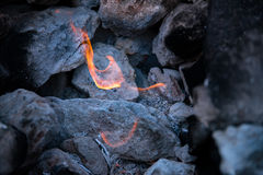 Ethernal flame by the sea Stock Photography