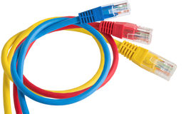 Ethernet Cabl de la red Fotos de archivo libres de regalías