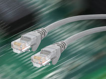 Ethernet-Cable. A cable used for network-connections Stock Photos