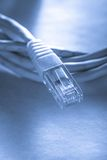 Ethernet cable for computer Stock Photo