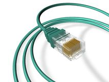 Ethernet Cable Render Royalty Free Stock Photography
