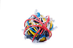 Ethernet Cables Isolated On White Royalty Free Stock Photos