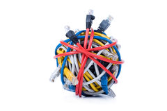 Ethernet cables isolated on white Stock Photo