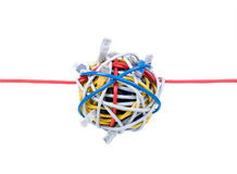 Ethernet cables isolated on white. Background Royalty Free Stock Photo
