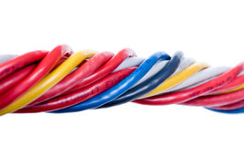 Ethernet cables isolated on white Royalty Free Stock Photo