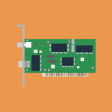 Ethernet card illustration Stock Image