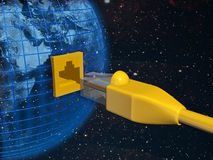 A ethernet connected globe Stock Images