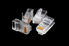 Ethernet connectors RJ45 Stock Photography