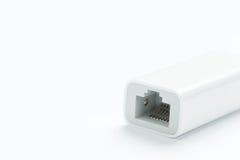 Ethernet de gigabit sur le fond blanc Images stock