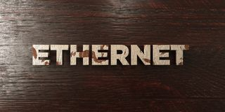 Ethernet - grungy wooden headline on Maple  - 3D rendered royalty free stock image Royalty Free Stock Images