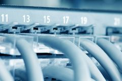 Ethernet Hub. With Cat 5 Connectors stock photos