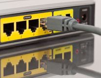 Ethernet Plug In Royalty Free Stock Photography