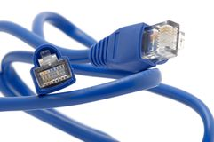 Ethernet plug Royalty Free Stock Photos