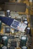 Ethernet plug Royalty Free Stock Photography
