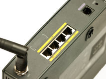 Ethernet ports close up Stock Photo