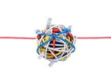 Ethernet-Seilzüge getrennt auf Weiß Lizenzfreies Stockfoto