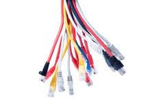 Ethernet-Seilzüge getrennt auf Weiß Lizenzfreie Stockbilder