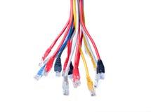 Ethernet-Seilzüge getrennt auf Weiß Lizenzfreies Stockbild