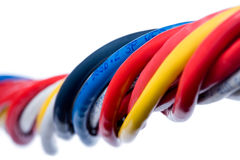 Ethernet-Seilzüge getrennt auf Weiß Lizenzfreie Stockfotos