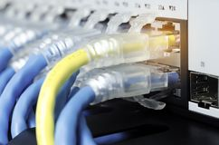 Ethernet sieci pojęcie Obrazy Royalty Free