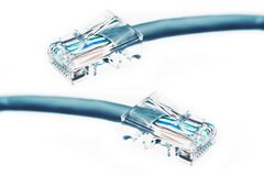 Etherneta kabel Odizolowywający Obrazy Stock